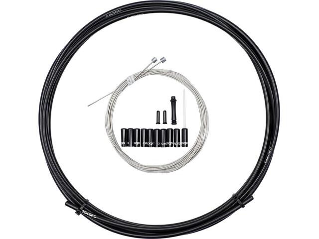 capgo OL Set de câbles de dérailleur long pour Shimano/Sram MTB & ATB/Road, black